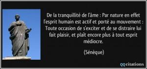 citation tranquillité Sénèque