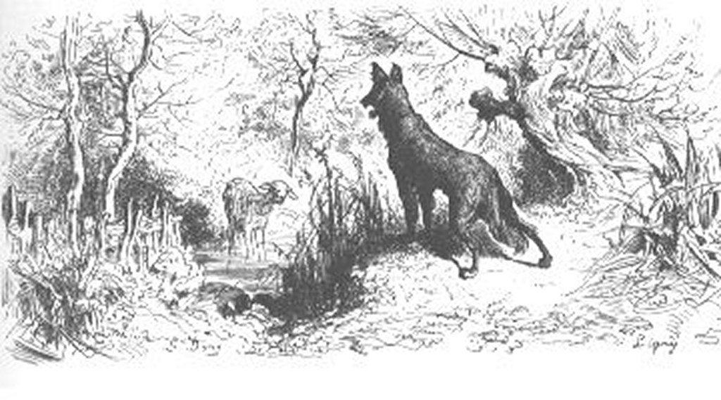 Lectio 5 fabula lupus et agnus diximus le latin au - Dessin loup et agneau ...