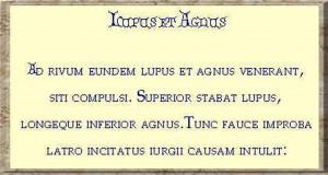 lupus et agnus texte