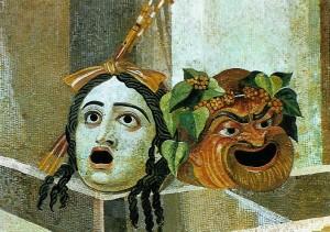 mosaique masques villa Hadriana