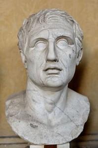 buste de ménandre copie romaine