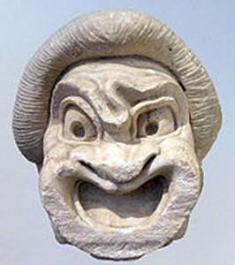 masque comédie esclave