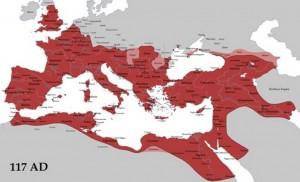 carte de l'empire en 117
