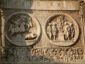 chasse d'hadrien arc Constantin