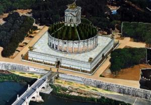 reconstitution mausolée d'hadrien