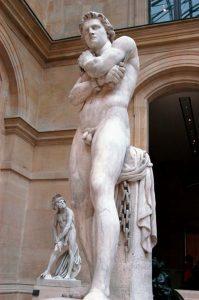 statue Spartacus arrière
