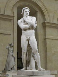 statue Spartacus face
